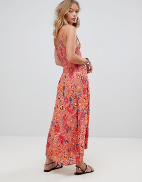 photo Paisley Racerneck Maxi Dress by RD & Koko, color Multi - Image 2