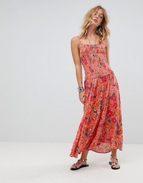 photo Paisley Racerneck Maxi Dress by RD & Koko, color Multi - Image 1