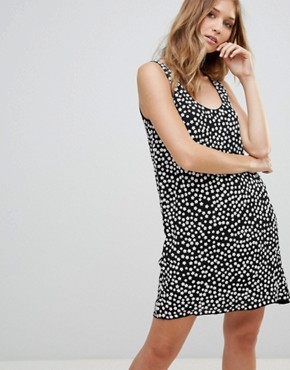photo Dorothy Drape Print Shift Dress by French Connection, color Black/White - Image 1