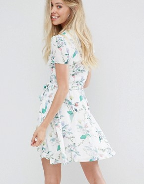 photo Printed Tea Dress by Oh My Love, color Spring Floral - Image 2