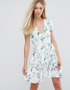 photo Printed Tea Dress by Oh My Love, color Spring Floral - Image 1