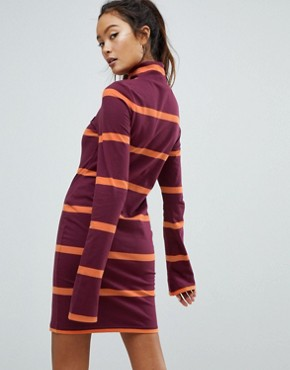 photo Jersey Mini Dress with Roll Neck by Ellesse, color Burgundy - Image 2