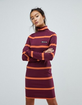 photo Jersey Mini Dress with Roll Neck by Ellesse, color Burgundy - Image 1
