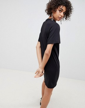 photo Belong Neck Strap Shift Dress by Cheap Monday, color Black - Image 2