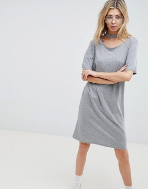 photo Belong Neck Strap Shift Dress by Cheap Monday, color Grey Mel - Image 1