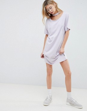 photo Belong Neck Strap Shift Dress by Cheap Monday, color Dust Lilac - Image 1