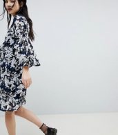 photo Floral Flock Swing Dress by Soaked in Luxury, color Blue - Image 2