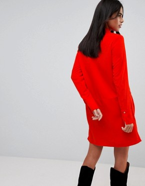 photo Drop Waist Shirt Dress by Vila, color Red - Image 2