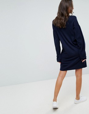 photo Knitted Jumper Dress with Volume Dress by ASOS TALL, color Navy - Image 2