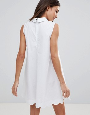photo Poplin Collar Shift Dress by the English Factory, color White - Image 2