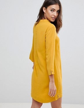 photo Choker Neck Long Sleeve Dress by the English Factory, color Sunrose - Image 2
