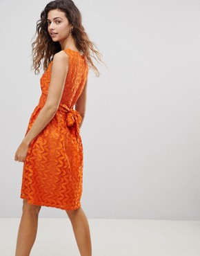 photo Lace Midi Dress by Uttam Boutique, color Rust - Image 2