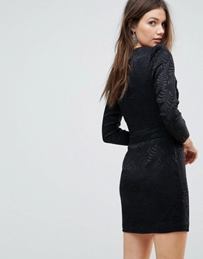 photo Naomi Shoulder Padded Velvet Mini Dress by Free People, color Black - Image 2