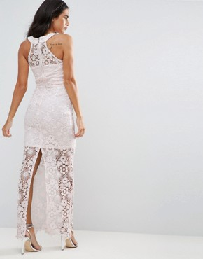 photo Lace Maxi Dress by Paper Dolls, color Light Pink - Image 2