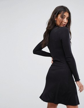 photo Julie High Neck Jersey Dress by Brave Soul, color Black - Image 2