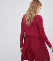 photo Polo Neck Smock Dress by ASOS, color Berry - Image 2