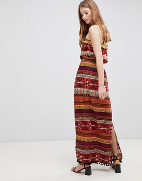 photo Pattern Maxi Dress by Glamorous, color Multi Pattern Stripe - Image 2
