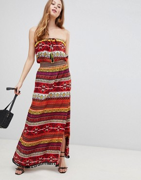 photo Pattern Maxi Dress by Glamorous, color Multi Pattern Stripe - Image 1