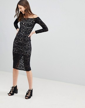 photo Lace Dress by Glamorous, color Black - Image 1