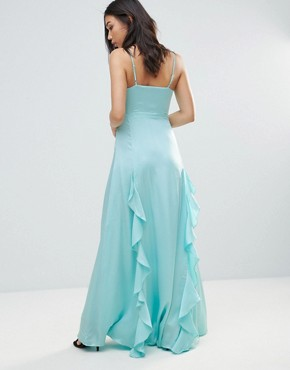photo Elizabeth Waterfall Maxi Dress by Y.A.S, color Arctic - Image 2
