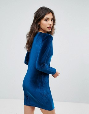 photo Velvet Dress by Oeuvre, color Blue - Image 2