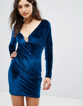photo Velvet Dress by Oeuvre, color Blue - Image 1