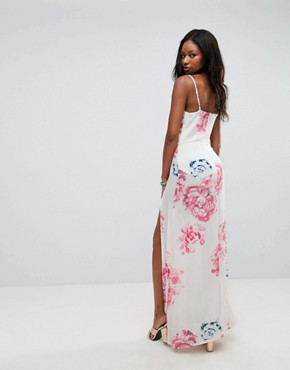 photo Floral Maxi Dress by Parisian, color White/Pink - Image 2