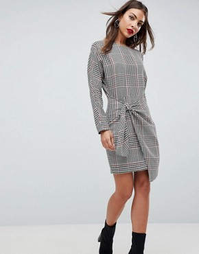 photo Checked 80's Mini Dress with Circle Belt by ASOS, color Multi - Image 1
