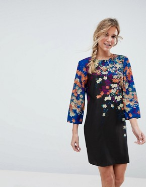 photo Mini Shift Dress in Floral Print by ASOS, color Multi - Image 1
