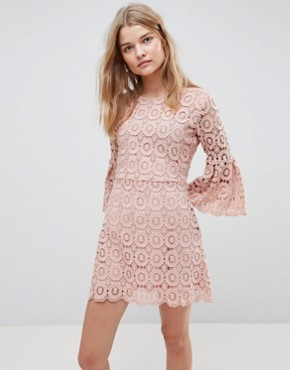 photo Winnie Crochet Dress by Urban Bliss, color Pink - Image 1