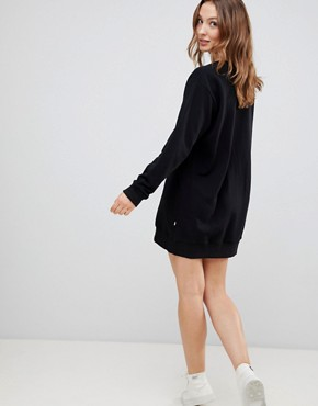 photo Evelyn Tie Front Sweat Dress by NYTT, color Black - Image 2