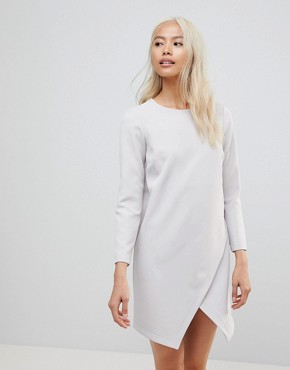 photo Asymmetric Clean Shift Mini Dress by ASOS, color Grey - Image 1