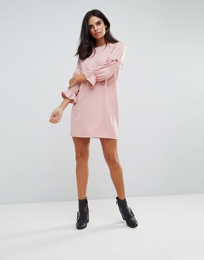 photo Tie Sleeve Detail Dress by Vero Moda, color Pearl Blush - Image 4