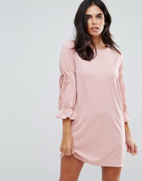 photo Tie Sleeve Detail Dress by Vero Moda, color Pearl Blush - Image 1