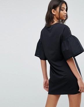 photo Oversize Sleeve Shift Dress by Vero Moda, color Anthracite - Image 2