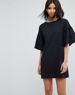 photo Oversize Sleeve Shift Dress by Vero Moda, color Anthracite - Image 1