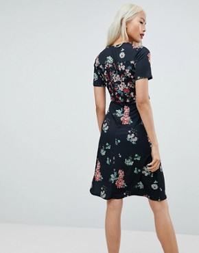photo Midi Wrap Dress in Mixed Floral Print by ASOS, color Floral Print - Image 2