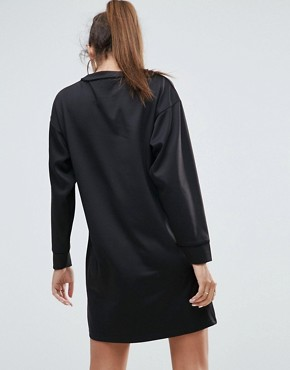 photo Stork Embroidered Scuba Mini Sweat Dress by ASOS PREMIUM, color Black - Image 2