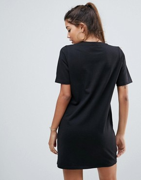 photo T-Shirt Sweat Dress with Embroidery by ASOS, color Black - Image 2