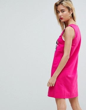 photo Daddies Girl Sleeveless Dress by Love Moschino, color  - Image 2