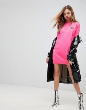 photo Embroidered Icon Knit Dress by Love Moschino, color  - Image 4