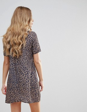 photo Leopard Print Shift Dress by Oh My Love, color Leopard - Image 2