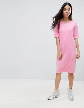 photo Shift Dress by b.Young, color Bubble Gum Pink - Image 1