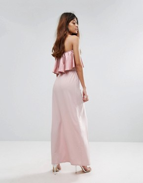 photo Frill Front Maxi Dress by Oh My Love, color Pink Blush - Image 2