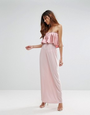 photo Frill Front Maxi Dress by Oh My Love, color Pink Blush - Image 1