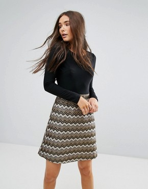 photo 2-In-1 Dress with Textured Skirt by Traffic People, color Multi - Image 1