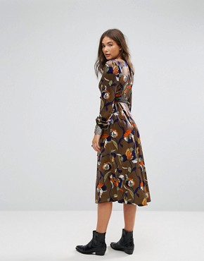 photo Floral Midi Dress by Traffic People, color Multi - Image 2