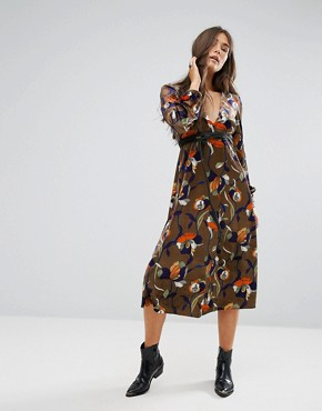 photo Floral Midi Dress by Traffic People, color Multi - Image 1
