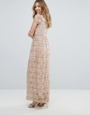 photo Lace Maxi Dress by Traffic People, color Green - Image 2