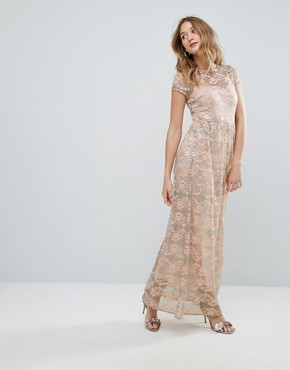 photo Lace Maxi Dress by Traffic People, color Green - Image 1